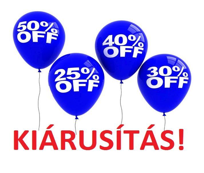 KIÁRUSÍTÁS! -30% -70%
