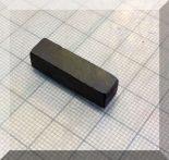 7x7x25 mm. Ferrit téglatestmágnes (végére mágnesezett)