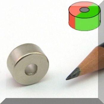 D12/d4x6 Gyűrűmágnes N50 Diamet