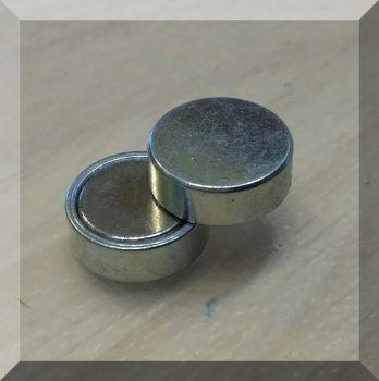 D13x4,5-NdFeB betétes POT mágnes, rögzítési pont nélkül