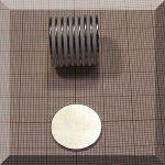 D18x1 N38 mm. NdFeB korong mágnes