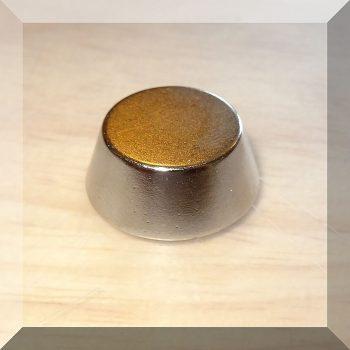 D19,5/d15x8 mm. N40 Neodym csonkakúp alakú mágnes