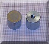 D20,6x19 mm-es AlNiCo POT mágnes M6-as menettel (450°C)