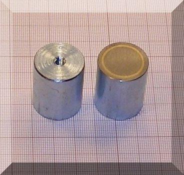 D24x30 mm-es AlNiCo POT mágnes M5-as menettel (450°C)