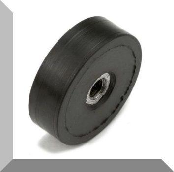 D25/D29x8,5 mm. gumirozott POT mágnes M5-os belső menettel