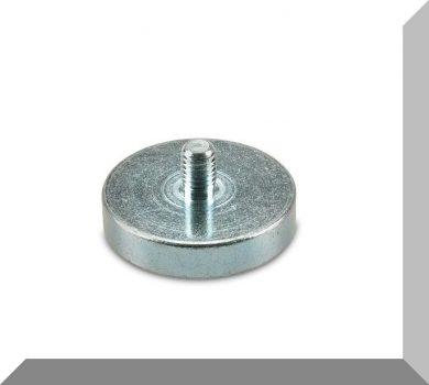 D42x9 / 20 mm. NdFeB betétes süllyesztett furatos POT mágnes M8