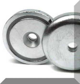 D42x9 mm. NdFeB betétes süllyesztett furatos POT mágnes