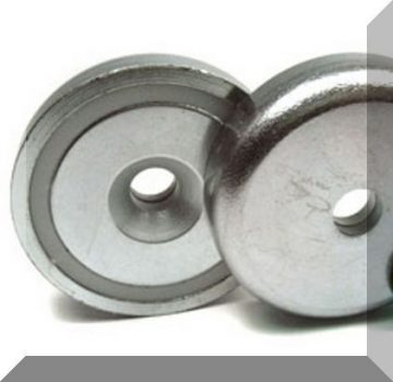 D48x11,5 mm. NdFeB betétes süllyesztett furatos POT mágnes