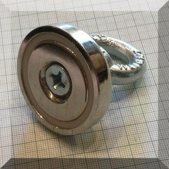 D48x12/60 Szemes POT NdFeB betétes mágnes (88Kg.)
