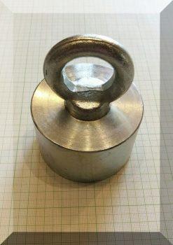 D65x40/85 Függesztőszemes, NdFeB betétes POT mágnes