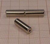 D6,4/d2x20 N38 NdFeB furatos henger mágnes/axial