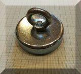 D75x18/53 Függesztőszemes, NdFeB betétes POT mágnes