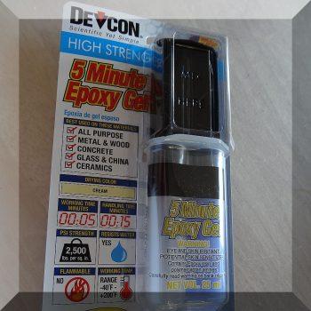 DEVCON 5 perces 2 komponensű Epoxy ragasztó-GÉL