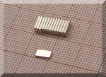 6x3x1 mm. N48H Neodym téglatestmágnes