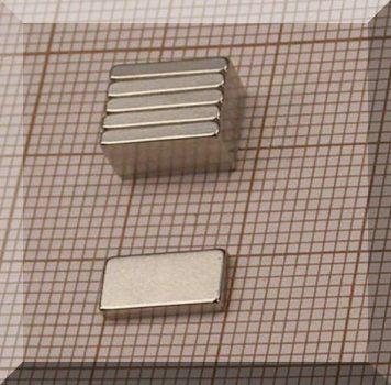 10x5x1,5 mm. N38SH NdFeB Téglatest mágnes