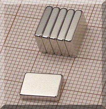 10x7x2 N38 NdFeB téglatest mágnes
