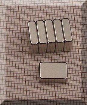 10x7x3 N38 NdFeB téglatest mágnes