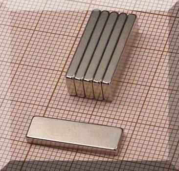 12x6x2 mm. N38SH NdFeB téglatest mágnes