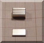 13x7x2 mm. N38 NdFeB téglatest mágnes