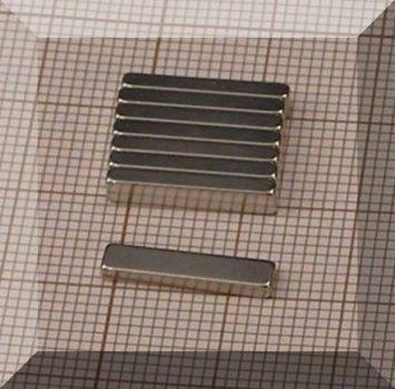 15x3x1,8 mm. N50 NdFeB téglatest mágnes