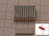 15x5,5x1,8 mm. N38SH  NdFeB téglatest mágnes