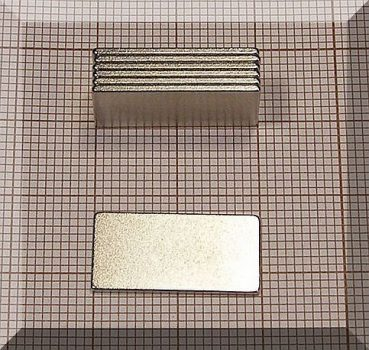 20x10x1 mm. téglatest mágnes N38
