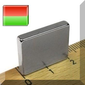 20x3,5x16 N35 NdFeB téglatest mágnes, SPEC