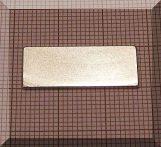25x10x1 mm. N38 NdFeB téglatest mágnes