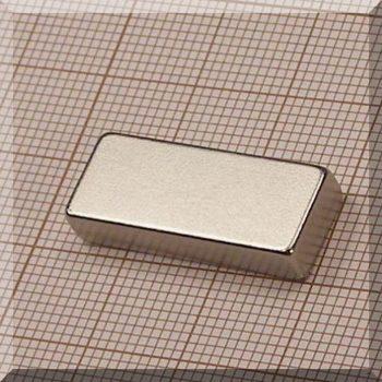 25x10x5 mm. N38 NdFeB téglatest mágnes