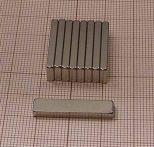 25x6x2,4 N38SH téglatest mágnes