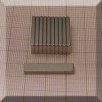 25x6x2 mm. N38 NdFeB téglatest mágnes