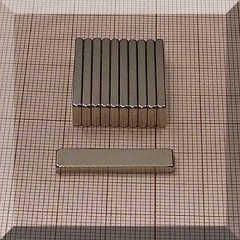 25x6x2 mm. N45SH NdFeB téglatest mágnes