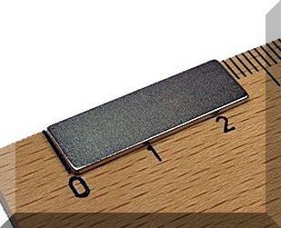 25x8x1 mm. N38 NdFeB téglatest mágnes