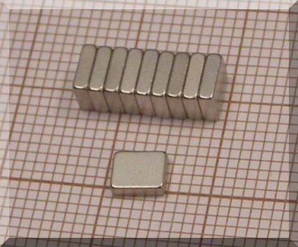 5x4x1,5 mm. NdFeB téglatest mágnes