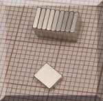 5x4x1 mm. NdFeB N48H téglatest mágnes