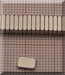 6x4x1,5 mm. N38SH NdFeB téglatest mágnes