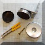 Ajtó mágnes (gumirozott) NdFeB betéttel, felcsavarozható D40x55x65