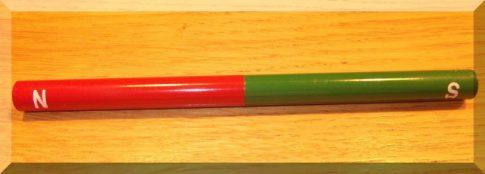 AlNiCo Iskola mágnes D10x150mm. zöld-piros