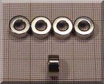 D10/d5x5 N38H NdFeB gyűrűmágnes Diamet
