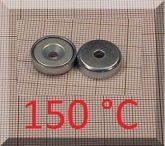 D16x5mm. POT mágnes Neodym betéttel (süllyesztett furatos) 150°C !!!