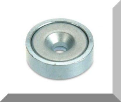 D16x5 mm. POT mágnes Neodym betéttel (süllyesztett furatos) 150°C !!!