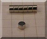 D6x4 mm. NdFeB korong mágnes N38
