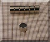 D6x4 mm. NdFeB korong mágnes N45SH