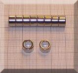 D8/d5x5 N38 NdFeB gyűrűmágnes