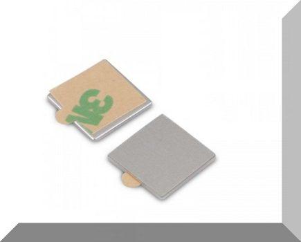 Fém négyzet alakú ellendarab Neodym mágneshez 15x15x0,6 mm. 3M öntapadós