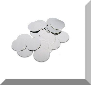 Fém ellendarab Neodym mágneshez D23x0,4 mm.  5db. /szett