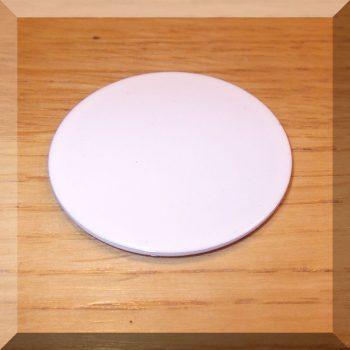 Fém ellendarab Neodym mágneshez D40x1 Horg. ÖNT. Fehér