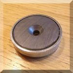 D40x8 POT mágnes ferrit betéttel
