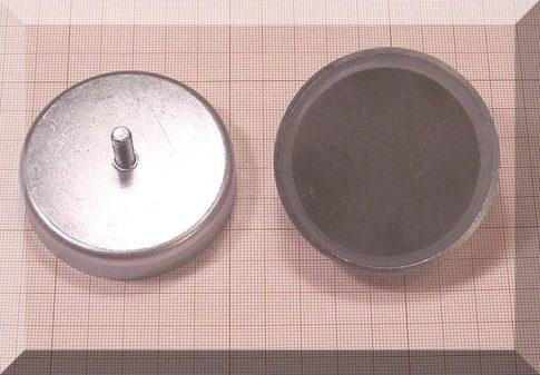 D63x14 POT mágnes ferrit betéttel menetszárral