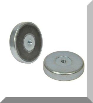 D80X18 POT mágnes ferrit betéttel M10 belső menettel